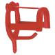 Trensenhalter Metall rot